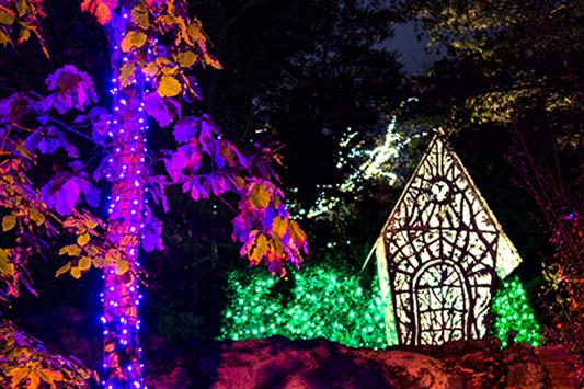 Villa Aviana at Rock City's Enchanted Garden of Lights