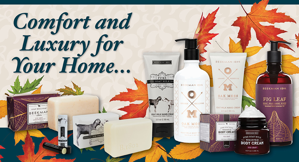 Fall Beekman 1802 products available at RiverView Inn