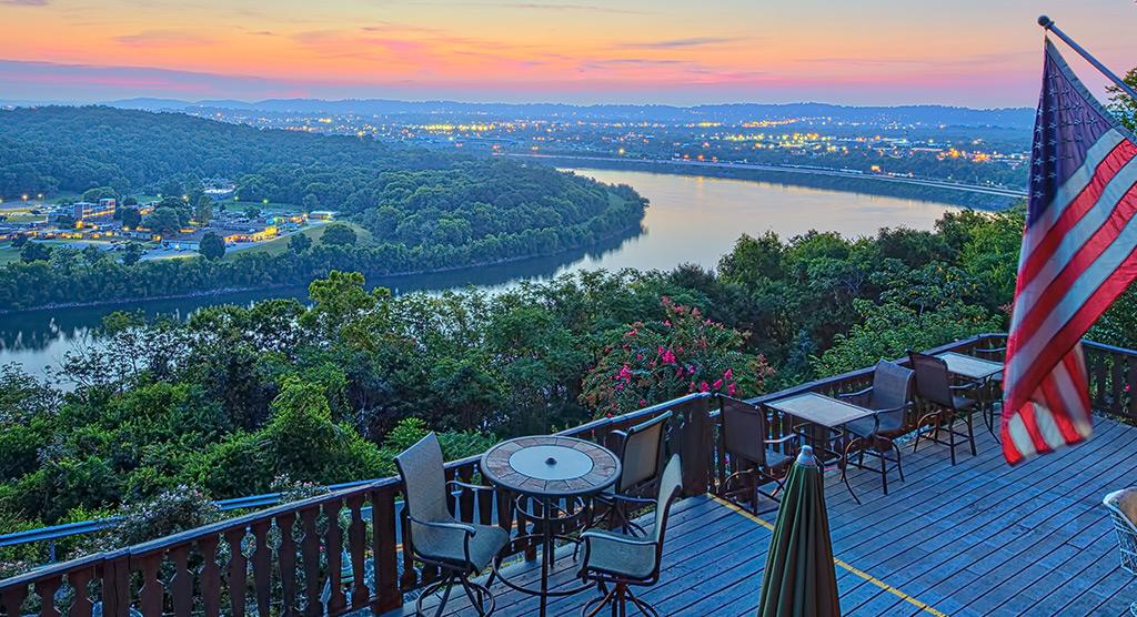 Riverview Inn deck view