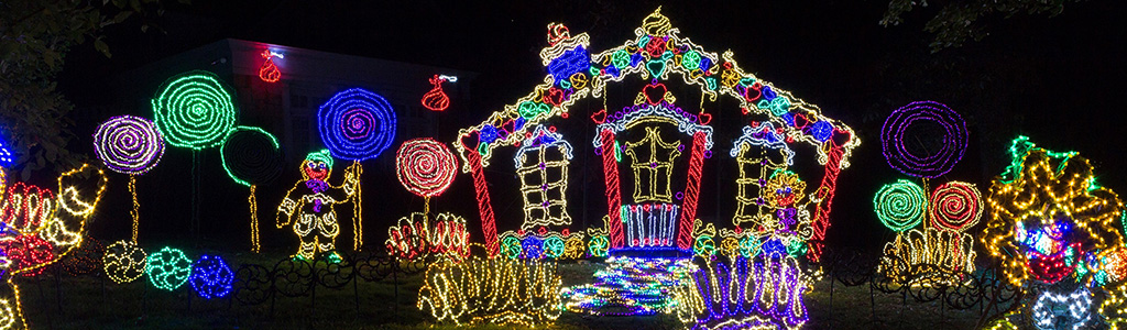Gingerbread House at Rock City's Enchanted Garden of Lights